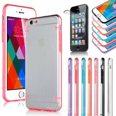 """For Apple iPhone 6 4.7"""" TPU Rubber Gel Ultra Thin Case Cover Transparent Clear"""