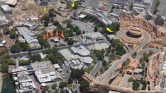 PHOTOS: Aerial View of Disneyland and Construction Updates Disneyland Park, Downtown Disney, View Photos, Cool Photos, Grizzly Peak, Grand Californian, Legoland Florida, Florida Resorts, Cars Land