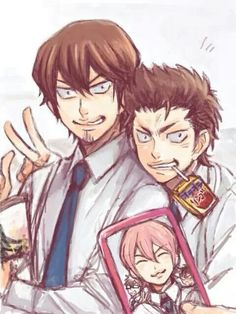 Diamond no Ace - Isashiki Jun, Kuramochi Youichi & Kominato Ryousuke | I kinda like this kind of picture where they think they are the Motiv but it's actually a selfie
