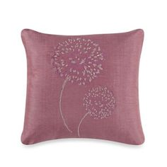 Frette At Home Pompeii Square Throw Pillow in Pink - BedBathandBeyond.com