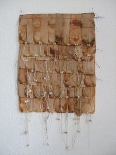 teabag panel teabags and stitctwork made in 2012