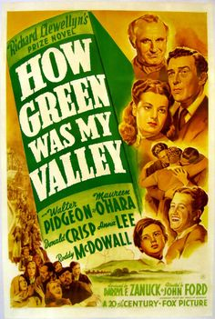 14th Academy Awards Best Picture Winner - How Green Was My Valley - Feb 26, 1942