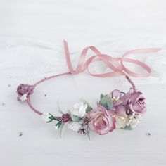 A personal favorite from my Etsy shop https://www.etsy.com/listing/592846776/child-flower-crown-flower-girl-mauve