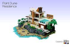LEGO Residence Point Dume - Nostalgia del mare e delle ferie? Con questa splendida MOC di César Soares sembra di essere ancora in vacanza! #LEGO by Cesbrick