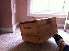 Wine box on wheels