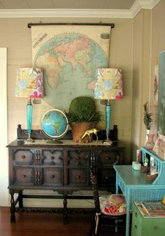 Decorating with maps - lots of inspiration
