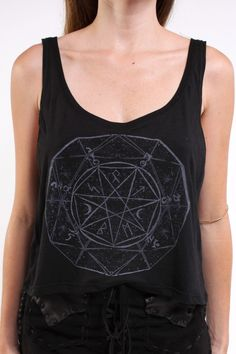 Sisters Of The Black Moon ~ Celestial Dust Tank- my catholic mutter would never let me wear this around her. love it!