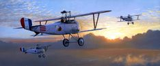 By the Dawn's Early Light, by Russell Smith (Nieuport 17, Lafayette Escadrille)
