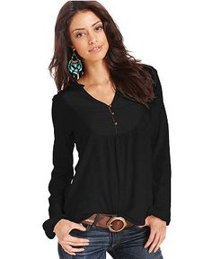 Lucky Brand Tie Back Printed Top | Women's Fashion | Pinterest ...
