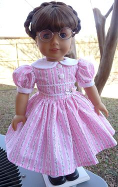 """18"""" Doll Clothes Valentines Day Party Dress Fits American Girl Molly, Emily, Kit, Ruthie. $24.95, via Etsy."""
