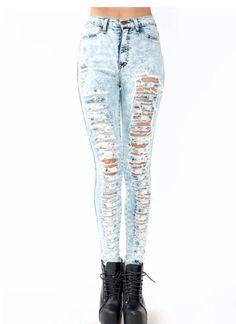 bigchipz.com cute-ripped-skinny-jeans-31 #skinnyjeans