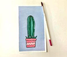 My first gouache painting😊 What do you think? Cactus Drawing, Gouache Painting, Art Club, My Drawings, Sketch, Artists, Sketch Drawing, Artist, Drawings