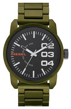 Military Green Aluminum Watch, Diesel
