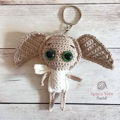 Dobby Keychain Free Crochet Pattern 2019 Hello again! This is the last but certainly not the least pattern in the Hogwarts Ragdoll Collection. What a wonderful The post Dobby Keychain Free Crochet Pattern 2019 appeared first on Yarn ideas. Crochet Gifts, Crochet Dolls, Crochet Yarn, Quick Crochet, Cute Crochet, Amigurumi Patterns, Crochet Patterns, Cat Amigurumi, Crochet Ideas