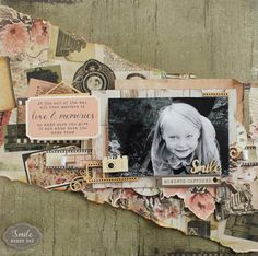 Today, I am showing a layout featured in June's Workshop magazine for Kaisercraft . The layout has been created with the Keepsake collecti. Kids Scrapbook, Scrapbook Templates, Scrapbook Pages, Scrapbook Layouts, Scrapbooking, All That Matters, General Crafts, Appreciation Gifts, Finding Joy