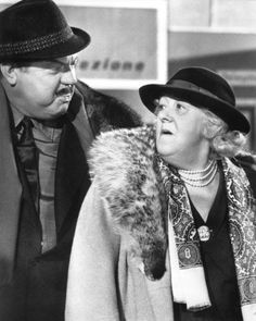"Orson Welles and Margaret Rutherford in ""The V.s"" Margaret Rutherford - Best Supporting Actress Oscar 1963 Margaret Rutherford, Mrs Marple, Murder Most Foul, Orson Welles, We Movie, Agatha Christie, Best Actress, Classic Movies, Movie Stars"