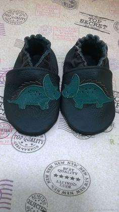 """Купить Кожаные чешки для детей """"Динозаврик"""",тапочки,домашняя обувь в интернет магазине на Ярмарке Мастеров"""