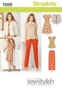 Simplicity 1699 Misses' & Miss Petite Sportswear Sewing Pattern