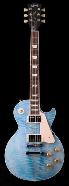 """GIBSON 2014 Les Paul Traditional in Ocean Blue (May be part of the """"Ocean Water"""" series, but this looks a little different from the other quilt top versions)"""