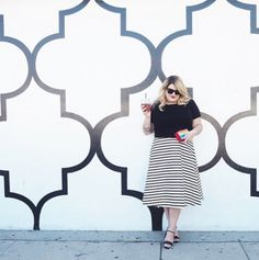 The Best Blogger Outfits of the Summer via @WhoWhatWear