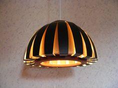 RARE-DANISH-60s-HOLM-SORENSEN-FIESTA-Pendant-Lamp-Mid-Century-Modern-Fog-Morup