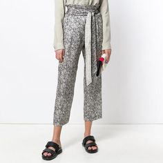 Masscob Floral Print Silk Trousers with Belt https://www.melaniepress.net/collections/trousers/products/masscob-floral-print-silk-trousers-with-belt