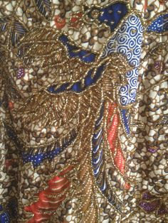 #boho bolero jacket #hand beaded jacket #We Be Bop #1980's vintage ~ buy it from TroppoBella on Etsy, $125.00 (Ah-mazzzzing hand-beaded, hand-printed batik bolero jacket from the 1980's that has never been worn. <3 ~ETS)