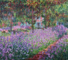 Claude Monet - The Artist's Garden at Giverny, 1900 - Kunstposter, Leinwandbild oder mit individuller Rahmung in jeder Größe
