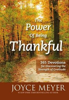 """[""""<em>New York Times<\/em> bestselling author Joyce Meyer believes that giving thanks to God daily will positively impact our lives. When we pause to acknowledge His blessings it restores us to a state of spiritual peace. <br><br>\r\n\r\nIn this 365 day devotional, Joyce offers an inspiring message that will spark an attitude of gratitude in our hearts. Through uplifting Scripture, she illustrates God's never-ending love, inexhaustible grace, and always-accessible presence in our lives. As…"""