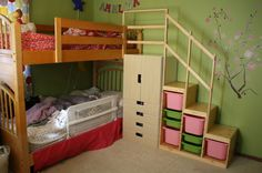 Easy Full Height Bunk Bed Stairs with Trofast & Stuva