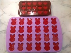 An Organic Wife: Recipe: Homemade Fruit Snacks.   Ingredients:  2 ½ c. strawberries  ½ c. lemon juice  2 TBS. honey  ½ c. gelatin