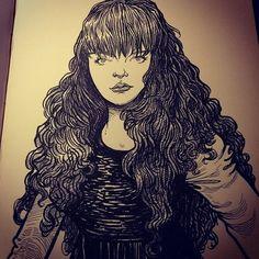 chris riddell - Gormenghast girl.