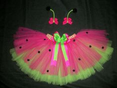 Ladybug tutu costume with antenna bows custom made by CatyRoseBows, $30.00
