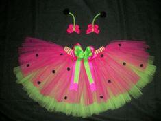 Ladybug tutu costume with antenna bows custom made by CatyRoseBows, 30.00