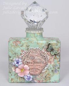 Juliz Design Post: Up-Cycled Parfüm-Flaschen – Craft Consortium - Parfums Antique Perfume Bottles, Vintage Perfume Bottles, Shabby Vintage, Vintage Diy, Shabby Chic, Vintage Style, Vintage Music, French Vintage, Wine Bottle Crafts