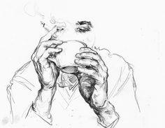artistic // artwork // drawing // line drawing // aesthetic // colour // art // artist Drawing Sketches, Art Drawings, Sketch Art, Sketching, Arte Sketchbook, Painting & Drawing, Drawing Drawing, Drawing Faces, Smoke Drawing