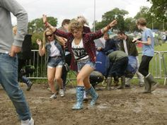 Less than 5% of festivals are cancelled in any year owing to aspects including weather. The elements are a driver to many aspects of festivals, least of all festival attire including wellies  http://www.standard.co.uk/news/uk/singing-in-the-rain-isle-of-wight-festival-gets-off-to-muddy-start-8659091.html