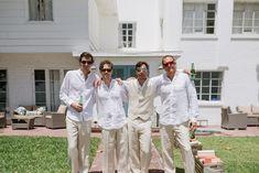 Tropical Siesta Key Beach Wedding Groom Attire, Groom And Groomsmen, Rustic Wedding Attire, Siesta Key Beach, Tropical, Wedding Ideas, Fashion, Moda, Fashion Styles