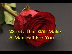 Words That Will Make A Man Fall For You