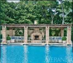 Make summer entertaining even better with an outdoor fireplace. Here are 8 of our favorite fire pits from the pages of Veranda.