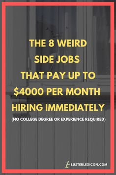 These easy side jobs let you work on your own schedule and will make you plenty of extra money. No experience or degree is required to get hired fast. Office Assistant Jobs, All About Me Poster, Paid Surveys, Work From Home Jobs, Way To Make Money, Extra Money, Helpful Hints, Brain, Finance