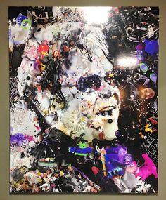 Elton John painting at Miami Art Basel by Rafael Espita