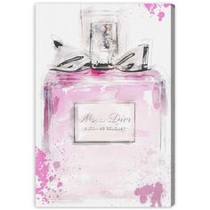 Oliver Gal Perfume And Bow Canvas Wall Art (800 BRL) ❤ Liked On Polyvore