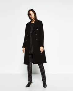 DOUBLE BREASTED WOOL COAT-Coats-OUTERWEAR-WOMAN-SALE | ZARA United States