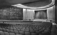 On its heyday, the Cine Ermita was one of Mexico's most modern cinemas, quite possibly the most modern continentally. Mid Century, Architecture, Building, Pictures, Interior, Childhood Memories, Public, Community, Times