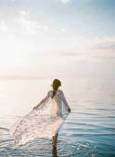 Serene dreamlike boudoir photos on Great Salt Lake via Magnolia Rouge