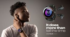 3rd Gen of the World's First Smartwatch & Fitness Tracker that Stores & Wirelessly Charges Earbuds | Check out 'Wearbuds Watch: Smartwatch that houses its earbuds' on Indiegogo. Halloween Express, Tiger Store, Express Store, Good Motivation, Morning Running, Shop Usa, Telling Time, Fitness Tracker, Listening To Music