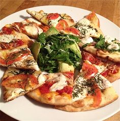 Flat bread Pizza! So quick and easy.