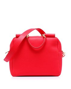 Tail bag leather, almost cube-shaped and detachable shoulder strap by @Dolce & Gabbana