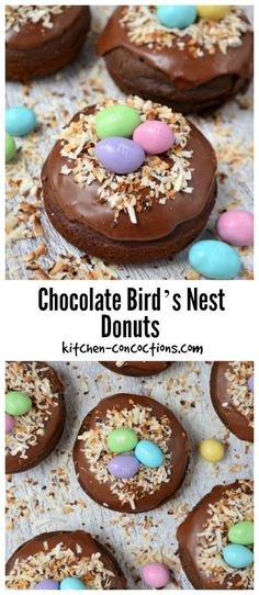 Get ready to do some baking for Easter! These Chocolate Bird's Nest Donuts are a fun treat for the family. Don't miss out on this yummy recipe.